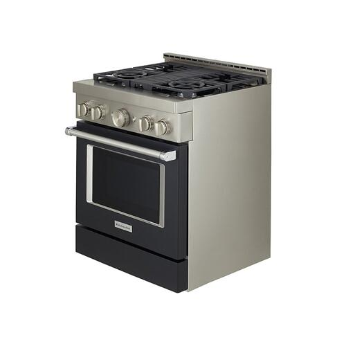 KitchenAid Canada - KitchenAid® 30'' Smart Commercial-Style Gas Range with 4 Burners - Imperial Black