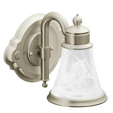 Waterhill Brushed nickel one globe bath light