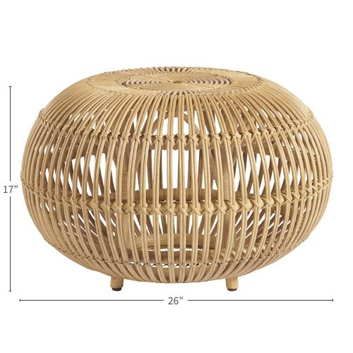 Small Rattan Scatter Table