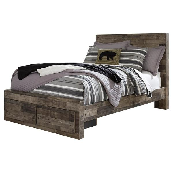 Derekson Full Panel Bed With 2 Storage Drawers