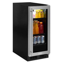 15-In Built-In Beverage Center with Door Style - Stainless Steel Frame Glass, Door Swing - Right