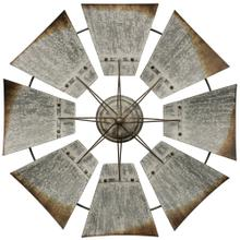 Vintage Windmill  An Iconic Farm Symbol in Galvanized Weathered Metal  Built in Hardware