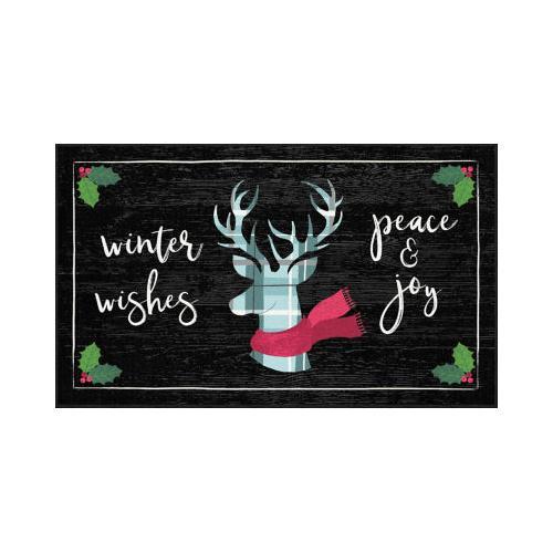 Mohawk - Winter Wishes, Black- Rectangle