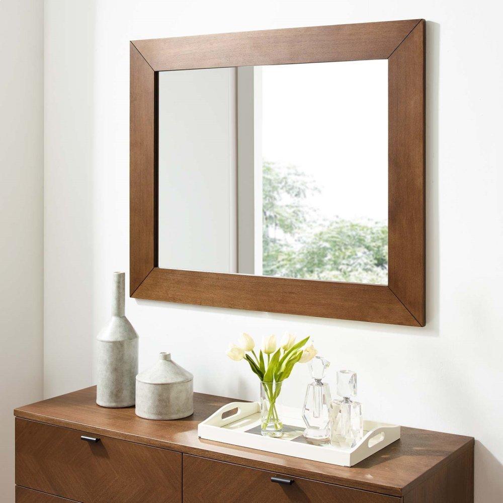 Kali Wall Mirror in Walnut