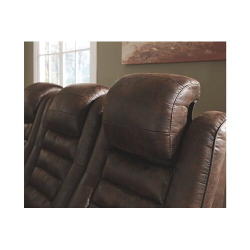 Game Zone PWR REC Loveseat/CON/ADJ HDRST Bark