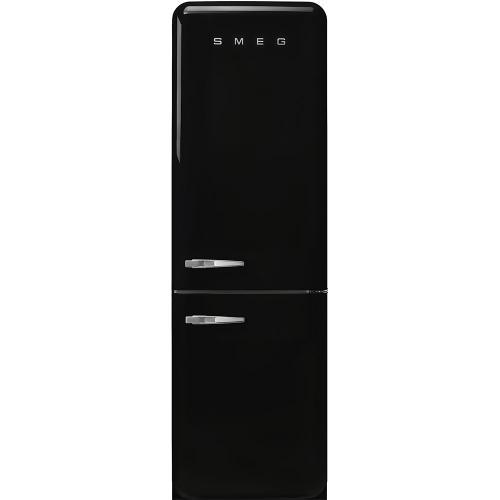 "'50s Style No Frost' Fridge-Freezer, Black, Right Hand Hinge, 60 cm (Approx 24"")"