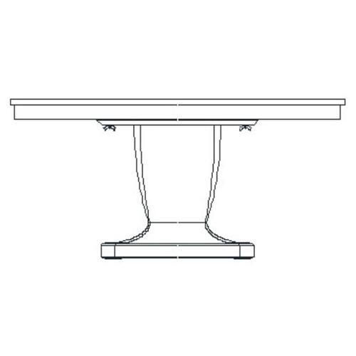 Rectangular dining table with bone inlay - high sheen
