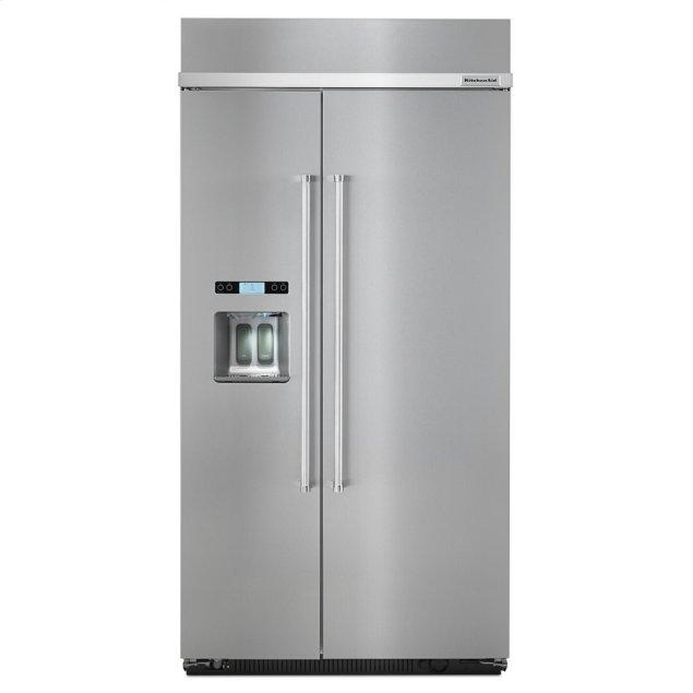 Kitchenaid 25.0 cu. ft 42-Inch Width Built-In Side by Side Refrigerator - Stainless Steel