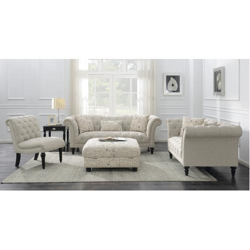 Hutton II Armless Accent Chair, Ivory U3164-15-29