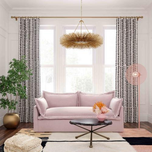 Tov Furniture - Freya Mauve Velvet Sofa