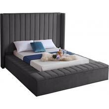 "Kiki Velvet Bed - 85.5"" W x 94"" D x 65"" H"