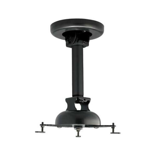 Black Tilt & Swivel Projector Mount For TV projectors up to 50 lbs / 22.73 kg
