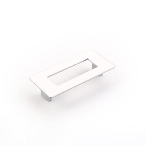 Finestrino, Pull, Rectangle, Matte Chrome, 96 mm cc