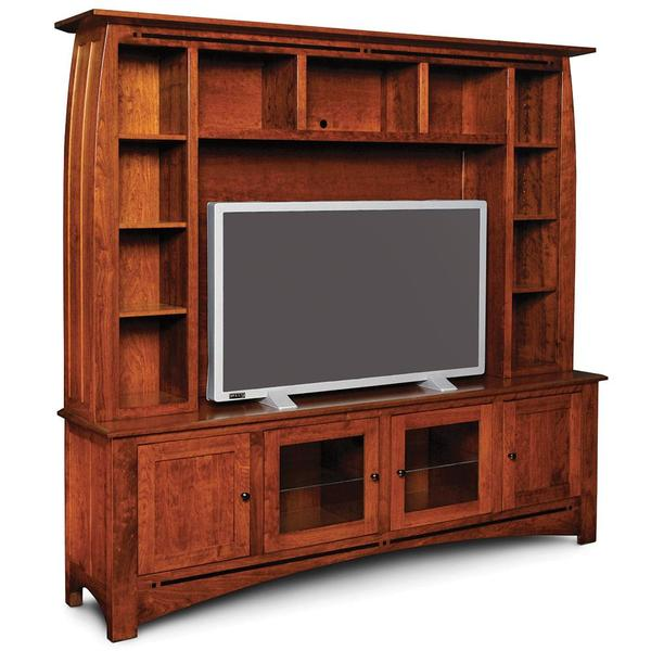 See Details - Aspen Deluxe Entertainment Center with Inlay, Entire Unit