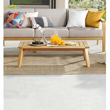 Sedona Outdoor Patio Eucalyptus Wood Coffee Table in Natural