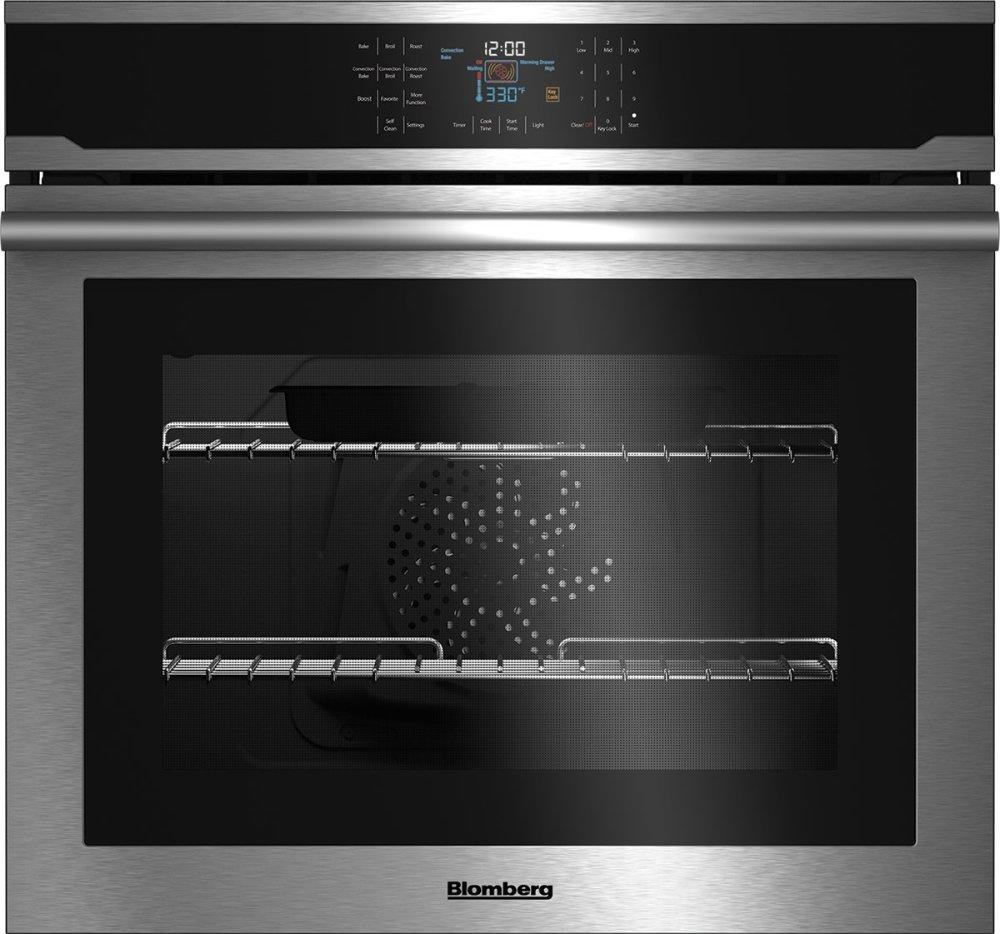"""Blomberg Appliances30"""" Single Wall Oven, Self Clean, Cool Touch Glass, Stainless"""