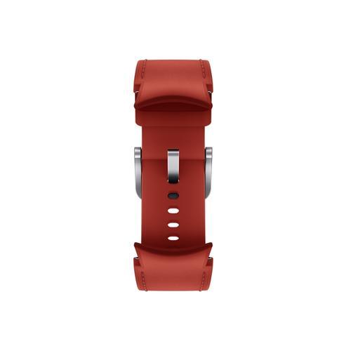 Samsung - Galaxy Watch4, Galaxy Watch4 Classic Hybrid Leather Band, M/L, Red