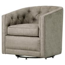 Walsh Fabric Swivel Accent Arm Chair, Denim Dove