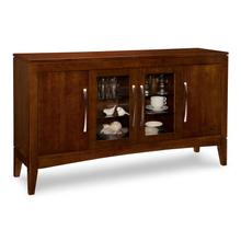 Catalina Sideboard w/2 Wood Doors Outside, 2/Glass Doors Middle , 2/Wood & 2/Glass Adjust Shelves