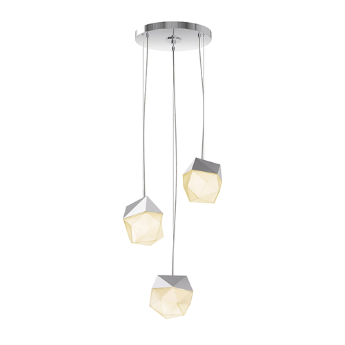 Facets™ 3-Light Round Small LED Pendant