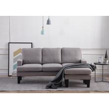 8162 LIGHT GRAY Fabric Basic Sectional Sofa