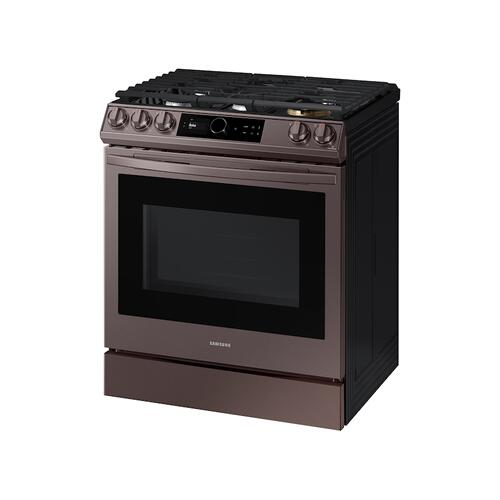 6.0 cu. ft. Front Control Slide-in Gas Range with Smart Dial, Air Fry & Wi-Fi in Tuscan Stainless Steel