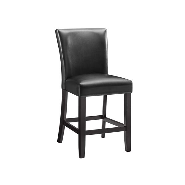 Carrara Black PU Counter Chair