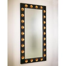 Domino Floor Mirror-Black/Gold Leaf