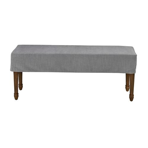 Forty West Designs - Bench Slip Cover-washable + Reversible Gray