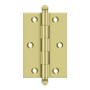 "Deltana - 3"" x 2"" Hinge, w/ Ball Tips - Polished Brass"