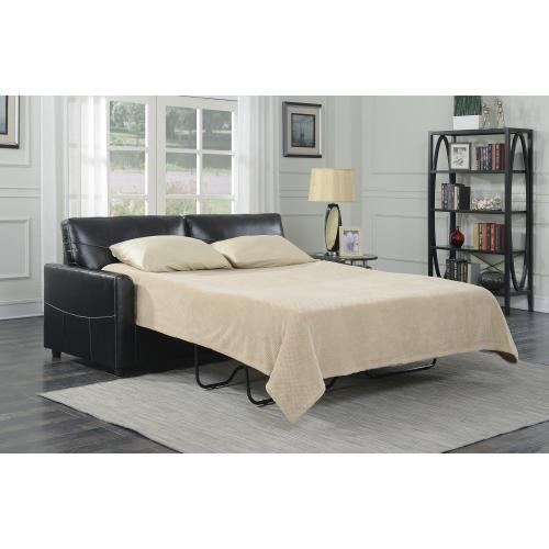 Emerald Home Slumber Queen Sleeper W/gel Foam Mattress Black U3215-50-26
