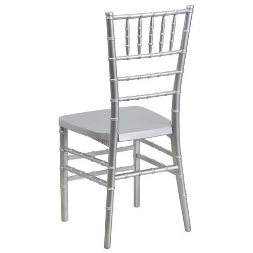 Flash Furniture - HERCULES PREMIUM Series Silver Resin Stacking Chiavari Chair
