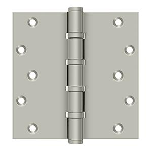 "6"" x 6"" Square Hinges, Ball Bearings - Brushed Nickel"