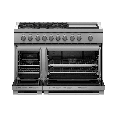 "Gas Range, 48"", 5 Burners with Griddle, LPG"