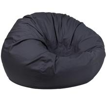 Oversized Solid Gray Bean Bag Chair for Kids and Adults