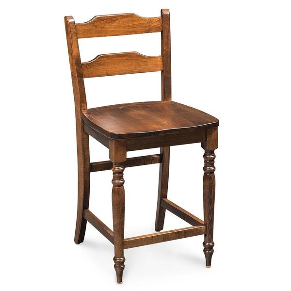 """See Details - Rachel Stationary Barstool, 30"""" Seat Height / Fabric Cushion Seat"""