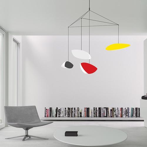 Sonneman - A Way of Light - Papillons LED Pendant [Size=4-Light Large, Color/Finish=Satin Black Shade]