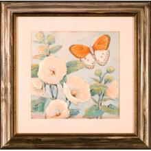 Butterfly & Hollyhocks I