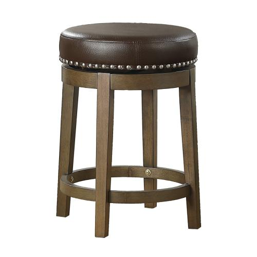 Round Swivel Counter Height Stool, Brown