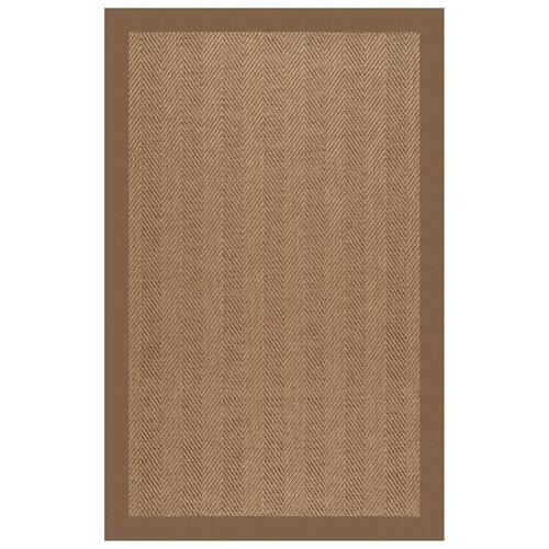 "Islamorada-Herringbone Canvas Cocoa - Rectangle - 24"" x 36"""