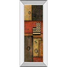 """Right Move I"" By Norm Olson Mirror Framed Print Wall Art"