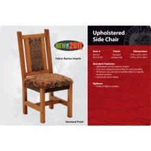 Barnwood Upholstered Side Chair