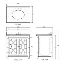 See Details - Grosvenor Single Vanity w/ Sink & Marble Top