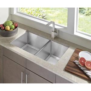 "1600 Series 34""x20"" stainless steel 16 gauge double bowl sink"