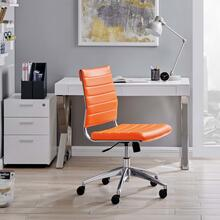 See Details - Jive Armless Mid Back Office Chair in Orange