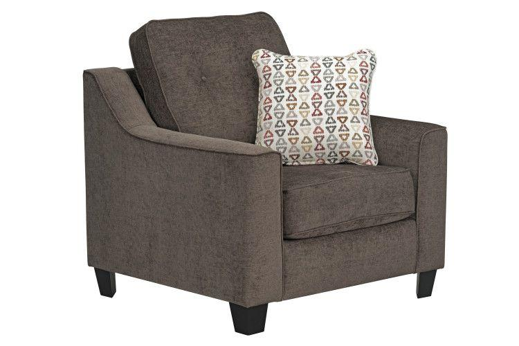 Marco Upholstered Chair, Chocolate Brown