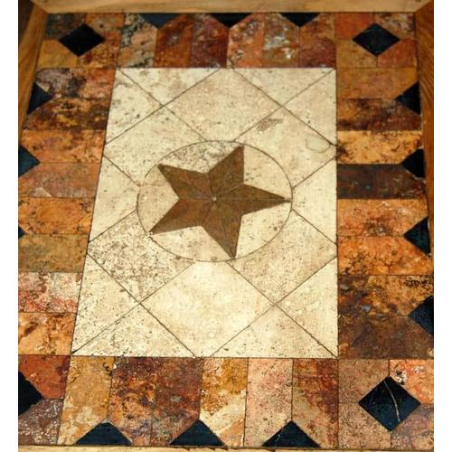 6 Ft Marble W/marble Star