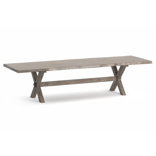 Bassett Furniture - Crossbuck Maple Live Edge Dining Table