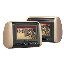 """See Details - 7"""" Headrest System with DVD/HDMI/MHL Input"""
