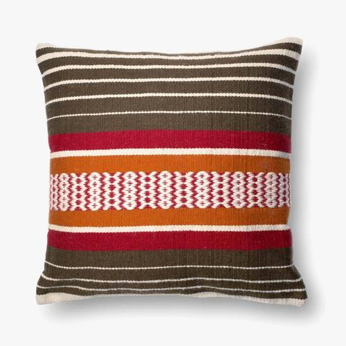 P0214 In/out Brown / Multi Pillow